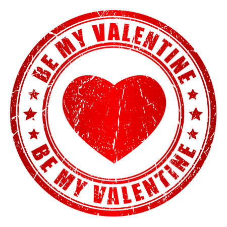 Be my valentine vector stamp Stock Vector - 17101562