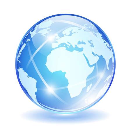 globo terraqueo: Vidrio vector mundo