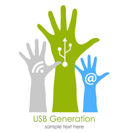 Internet generation concept Vector