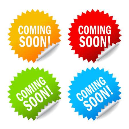 soon: Vector binnenkort labels set