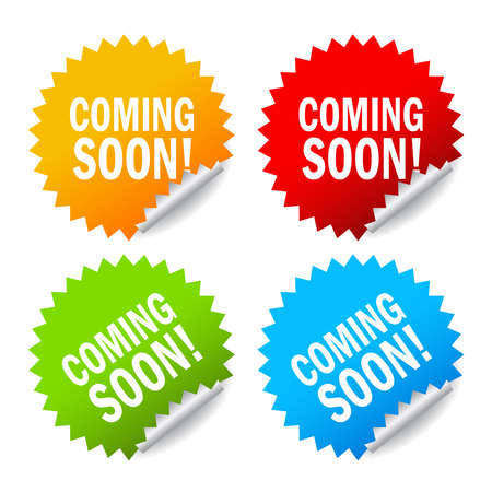 Vector coming soon labels set Stock Vector - 17101568
