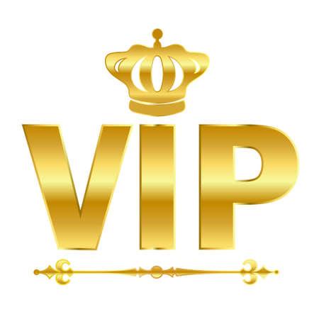 Vip oro, vector, símbolo Ilustración de vector