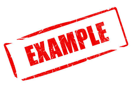the example: Example stamp