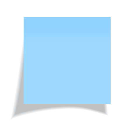 post it note: Vector blue sticker