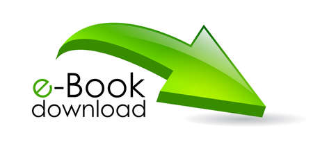 download folder: Ebook download arrow, vector illustration
