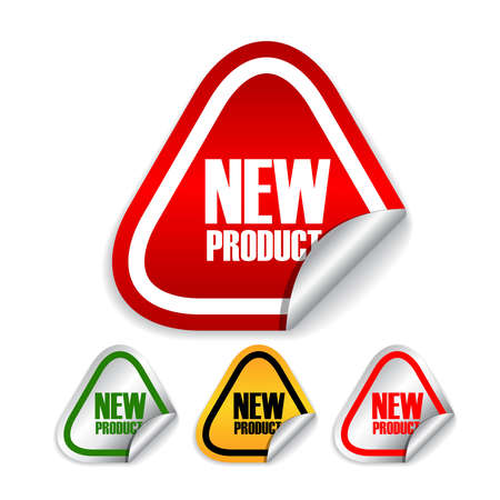 New product vector labels set Stock Vector - 17315113