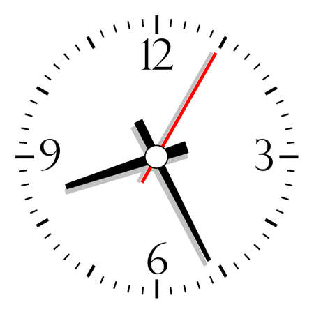 Numbered clock illustration Stock Vector - 17315108