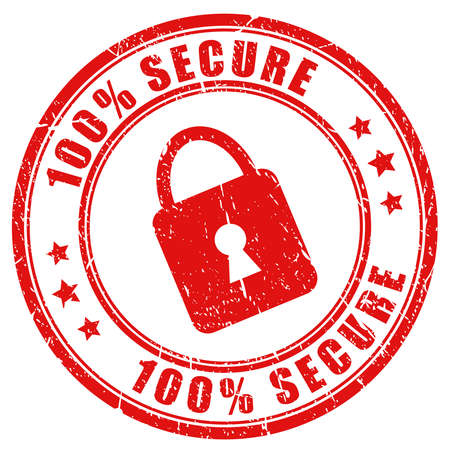 secure stamp Stock Vector - 17315120