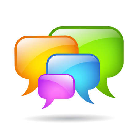 comments: Vector speech bubbles cloud illustration Illustration