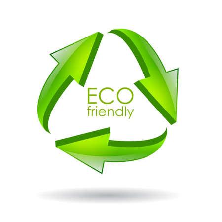 reciclar: Eco amistoso recicla s�mbolo vector