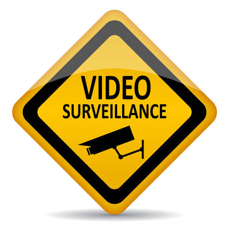 video surveillance: Vector video surveillance symbol