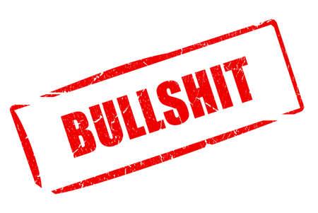stupidity: Bullshit slang stamp Stock Photo