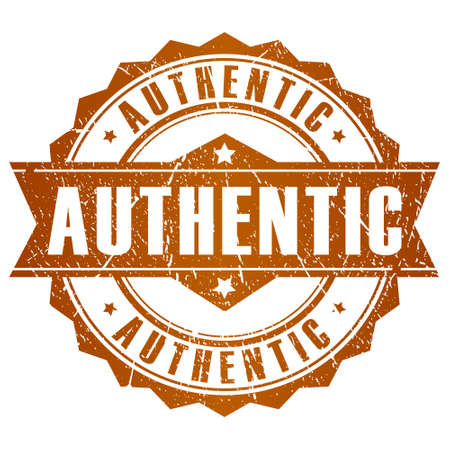 authenticity: Authentic vector stamp Illustration