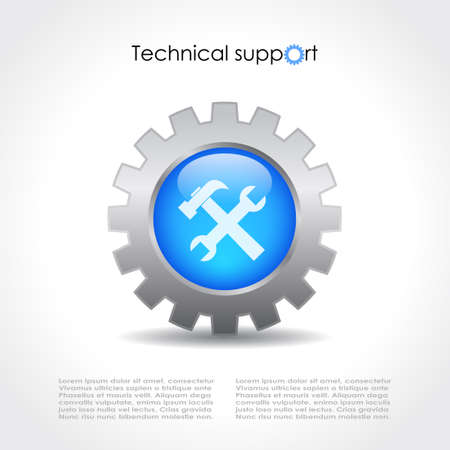 in the reconstruction: Technical support vector icon
