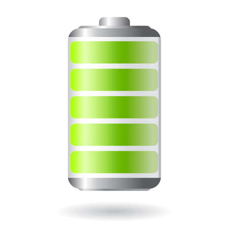 recharge: Vector battery icon