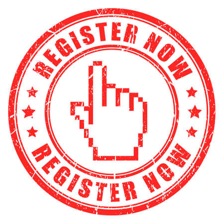 Register now vector stamp Illustration