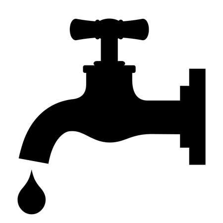 llave de agua: Vector s�mbolo de girar Vectores