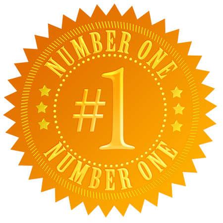 numero uno: El número uno del sello de oro