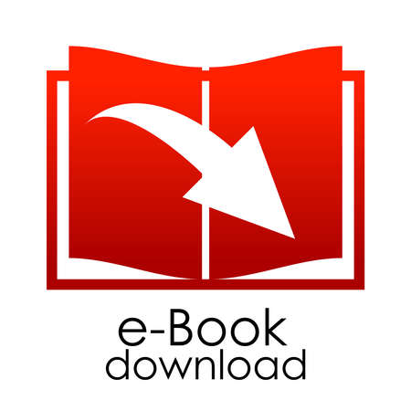 red e-book emblem Vector