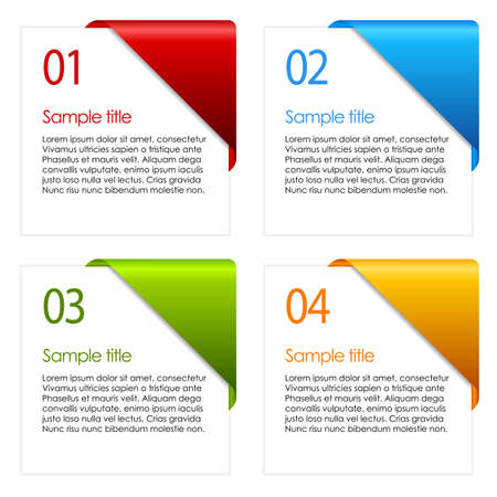 information cards Vector