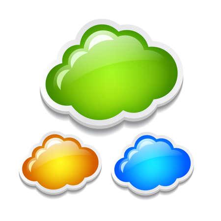 feedback label:  clouds set Illustration