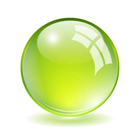 green ball Stock Vector - 17898532