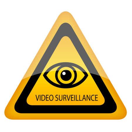 Video surveillance warning sign Stock Vector - 17898526