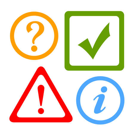 tick mark:  alert icons