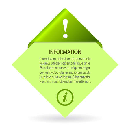 definitions:  information leaflet