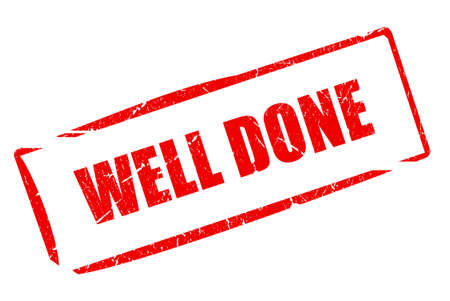 well done: Well done stamp Stock Photo
