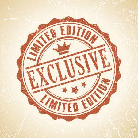 exclusive: exclusive retro stamp Illustration