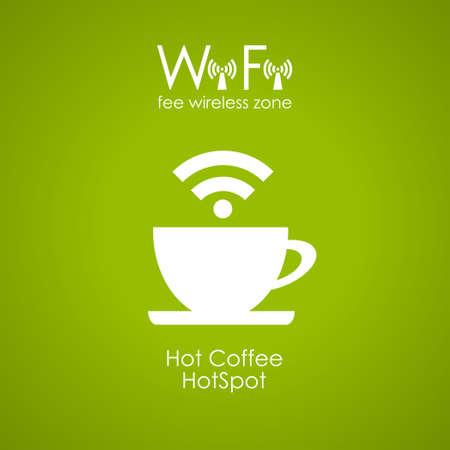point chaud: Conception de l'affiche de caf� Internet