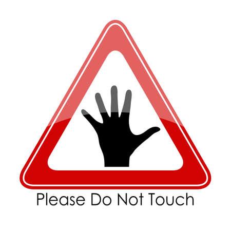 not open: Si prega di non toccare
