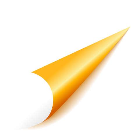 goud hoek Vector Illustratie
