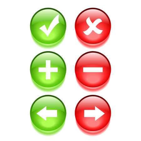navigation web buttons Vector
