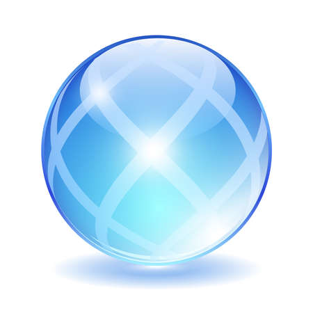 Abstract glass ball, vector illustration Vector