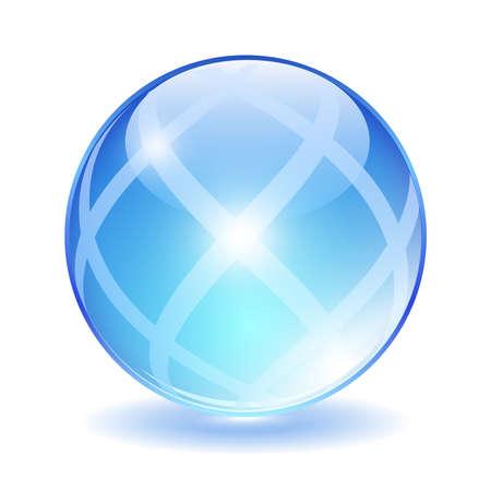lustre: Abstract glass ball, vector illustration