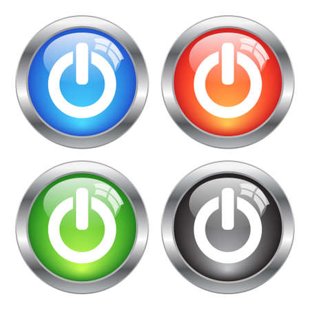 Vector power buttons Stock Vector - 18372170