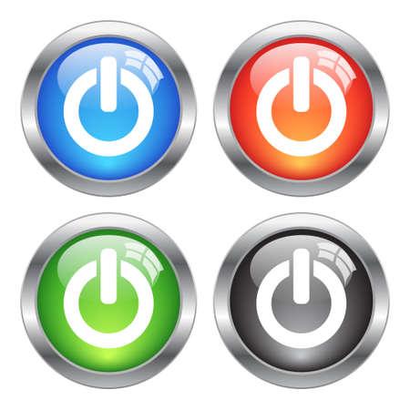 pushbuttons: Vector power buttons