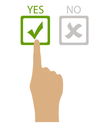 opinion poll: Choose yes vector illustration