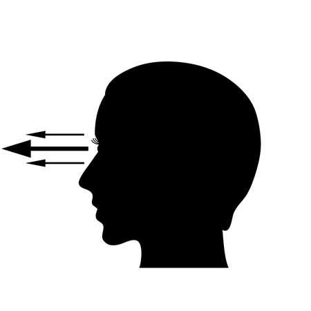 far sighted: Eyesight vector symbol Illustration