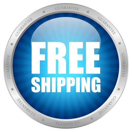 Vector blue free shipping icon Vector