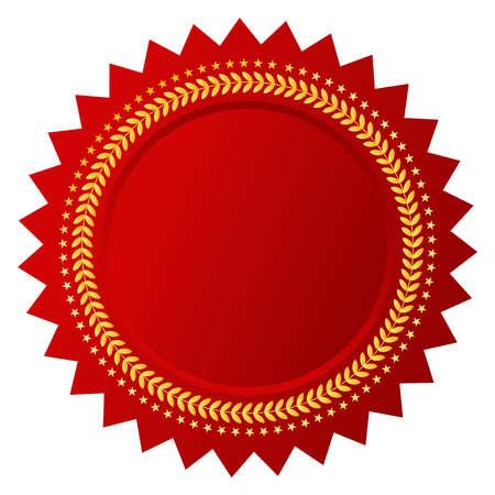 Vector rojo certificado Ilustración de vector