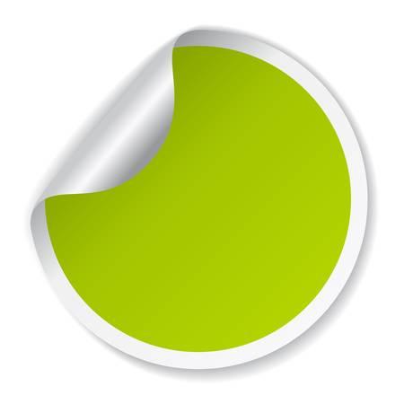 merken: Vector grüne Plakette Illustration