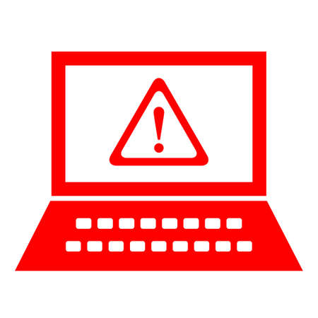Computer security alert, vector symbol Stock Vector - 18519955