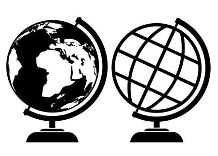 globe icons Stock Vector - 18678015
