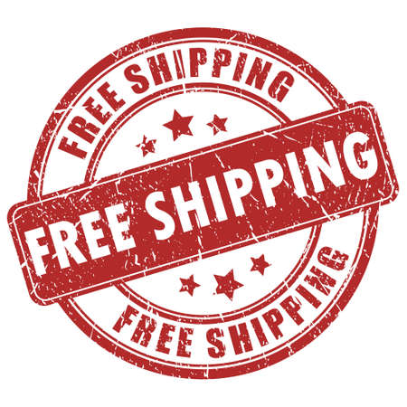 free shipping red stamp Vector