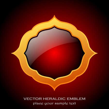 Medieval heraldic emblem Stock Vector - 18678028