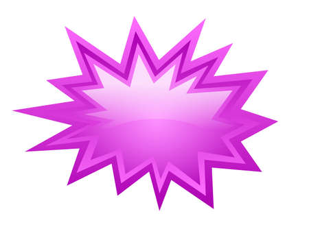 Pink burst  icon Vector