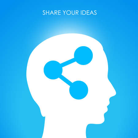 Share your ideas,  conceptual image Stock Vector - 18678018